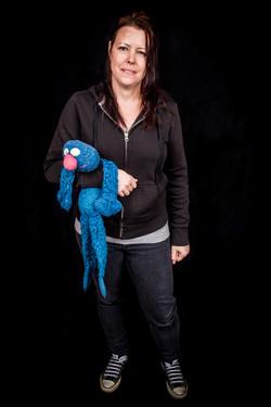 Christina with Grover