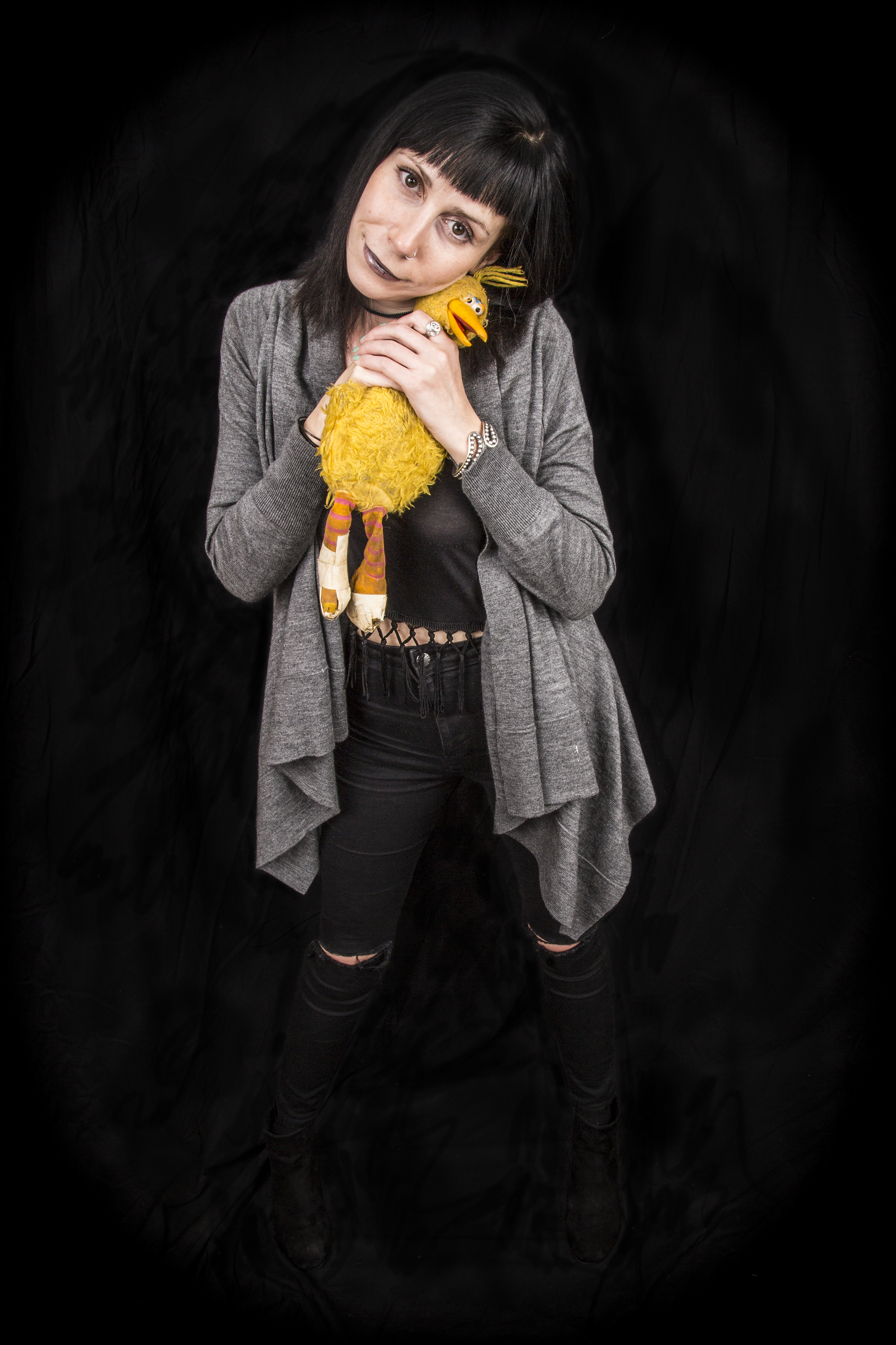 Liz with Big Bird