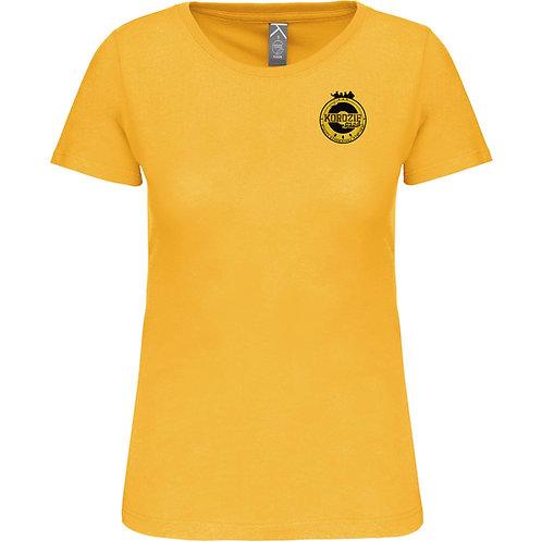 T-Shirt Femme Korozifprod jaune blason