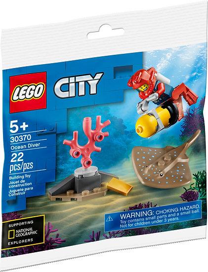 LEGO City Ocean Diver 30370 With Stingray Sea Creature Coral Gold Bar 22 pcs