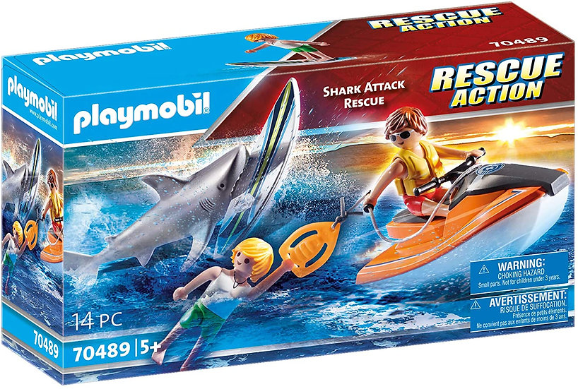Playmobil 70489 Rescue Action Shark Attack Rescue
