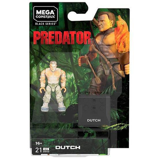 Mega Construx Predator Dutch Wave 2 Figure Black Series Bow Arrow