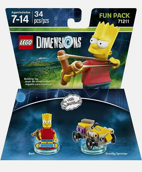 """LEGO Dimensions """"Bart Simpson Fun Pack"""" - 71211 - The Simpsons - New, Sealed"""