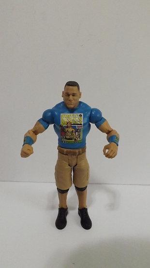JOHN CENA Mattel WWE/WWF Wrestling Figure 2013 Blue Hustle Loyalty Respect Shirt
