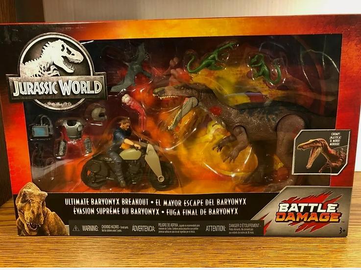 Jurassic World Battle Damage Ultimate Baryonyx Breakout Jurassic Park Sealed New