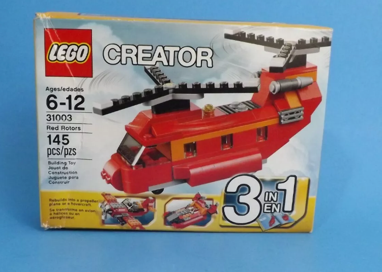Lego Creator Red Rotors 31003 Complete Original Box And Manual