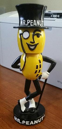 Vintage Mr. Peanut Bobble Head Doll Advertising Planters Nuts