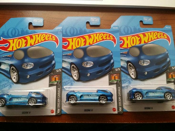 Hot Wheels 2021 Treasure Hunt Dream Garage Deora II Blue Lot Of 3