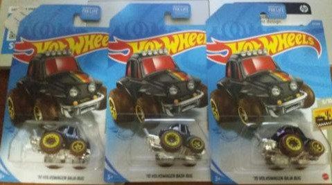 Lot of 3 2021 Hot Wheels '70 Volkswagen Baja Bug Dollar General Exclusive