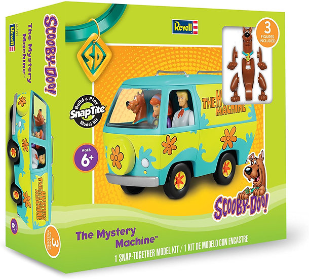 Revell 1:20 Scale Scooby-Doo Mystery Machine Van Build & Play SnapTite Model Kit