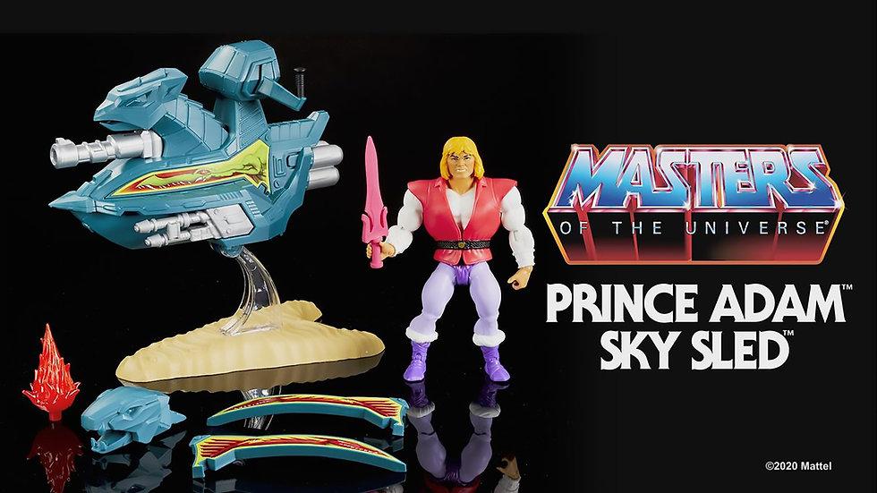 Masters of the Universe Origins Prince Adam and Sky Sled MOTU