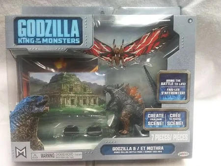 King of the Monsters Godzilla & Mothra Action Figure 2-Pack