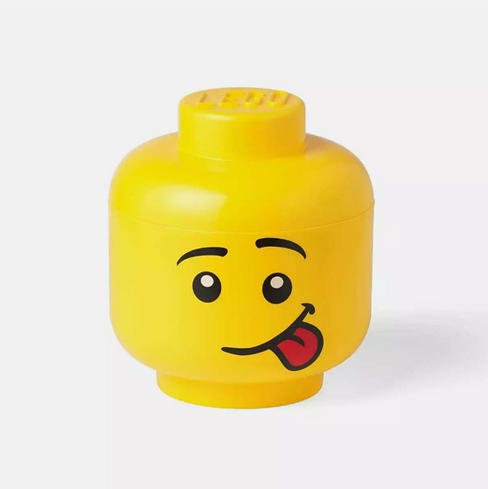 Lego Storage Head Small - Silly- Sticking Out Tongue NIB