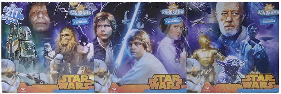 Star Wars 3 Pack Jigsaw Puzzles Panorama 211 Pieces