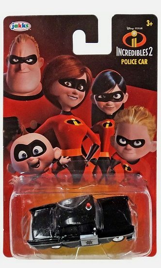 Lot of 3 Jakks Incredibles 2 Underminer Tunneler, Incredibile car, & Police Car