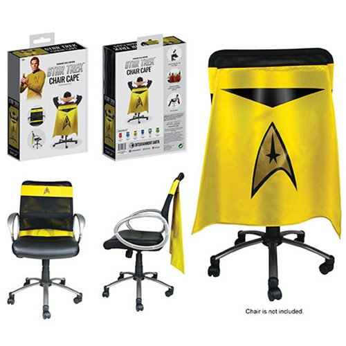 Star Trek Chair Cape Command Gold Uniform