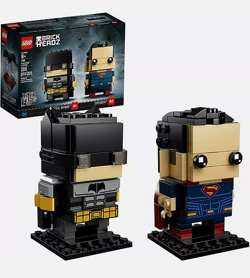 LEGO DC COMICS SUPER HEROES BRICKHEADZ 41610 Tactical Batman & Superman NISB
