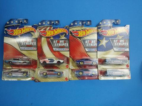 Hot Wheels Stars and Stripes Lot of 8