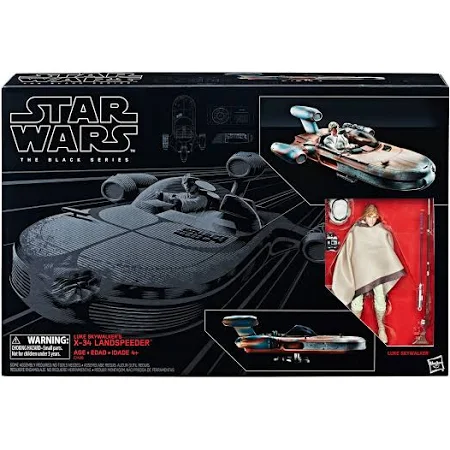 Black Series Luke Skywalker's X-34 Landspeeder Vehicle & Figure