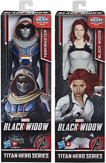 "Marvel Avengers Black Widow & Taskmaster 12"" Titan Hero Series Blast Gear"