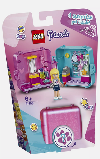 Lego Friends Stephanie's Shopping Play Cube 6+ New 44 Pieces Surprise Pet