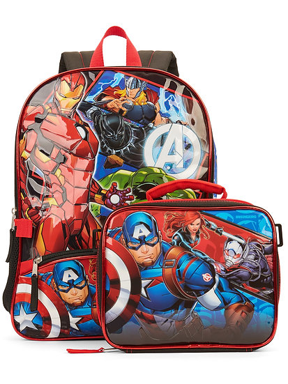 Avengers Backpack With Lunch Bag