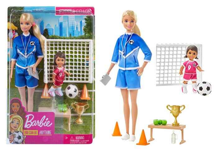 Barbie You Can Be Anything Soccer Coach Blonde Barbie Doll