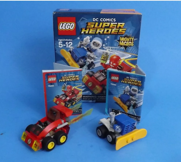 LEGO Super Heroes: MIGHTY MICRO #76063 The Flash - Vehicles ONLY