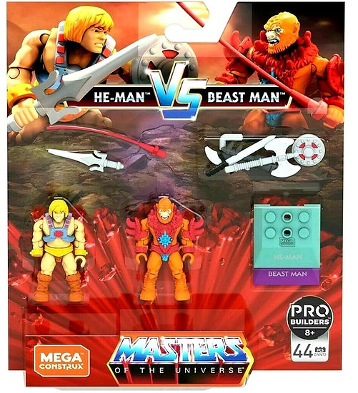 MEGA CONSTRUX MASTERS OF THE UNIVERSE HE-MAN VS BEAST MAN