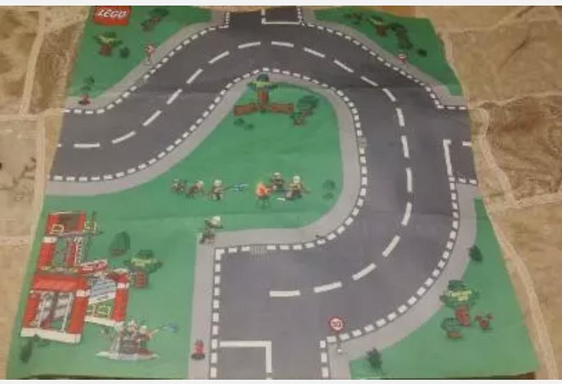 Lego Felt Playmat Emergency & Fire 27x31 inches