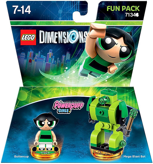 Lego Dimensions The Power Puff Girls 71343 Buttercup & Mega Blast Bot