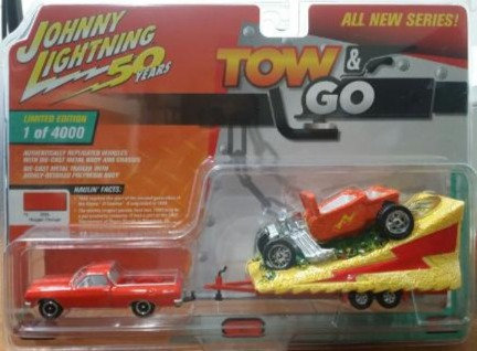 Johnny Lightning Tow & Go 1965 Chevy El Camino and Parade Float
