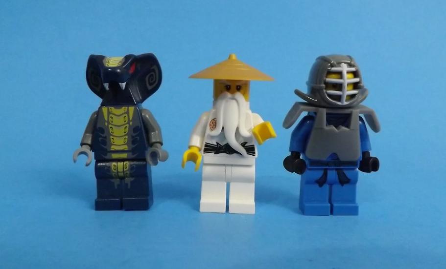 LEGO LOT OF 3 NINJAGO MINIFIGURES