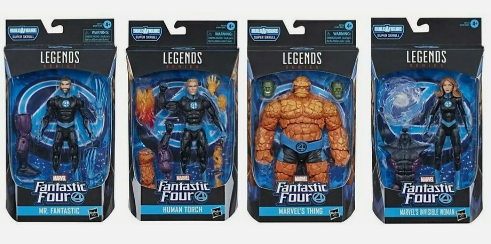 NEW Marvel Legends Fantastic 4 ...Complete Team With Skrull BAFs