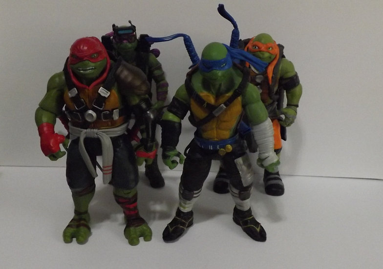 TMNT Lot of 4 2015 Movie Playmates 11 Inch Action Figures  - Paramount