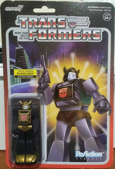 Super 7 Funko Transformers ReAction Gold Armor Bumblebee Target Exclusive!!!!