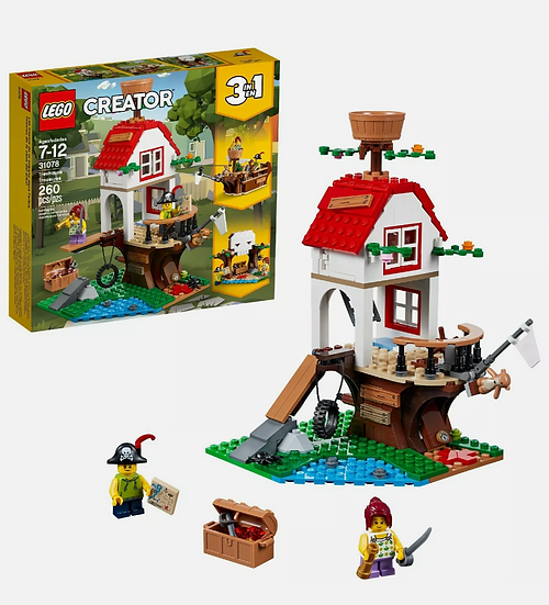 Lego Creator Treehouse Treasure 31078 3 in 1 Building Set (260 Piece) Brand New