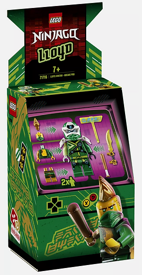 LEGO® NINJAGO® - Lloyd Avatar Arcade Pod 71716 [New Toy] Brick
