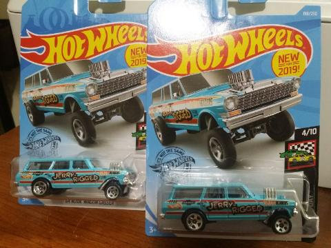 HOT WHEELS  Lot of 2 2019 Nova Wagon Gasser