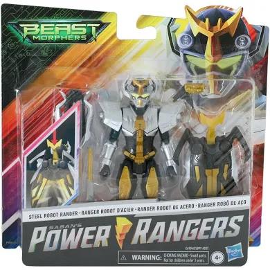 Power Rangers Beast Morphers Deluxe Steel Robot Ranger Action Figure