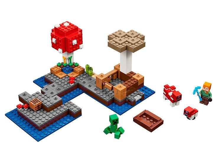 LEGO (21129) Minecraft The Mushroom Island - COMPLETE