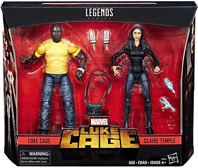 Marvel Legends Luke Cage: Luke Cage and Claire Temple 2 pack
