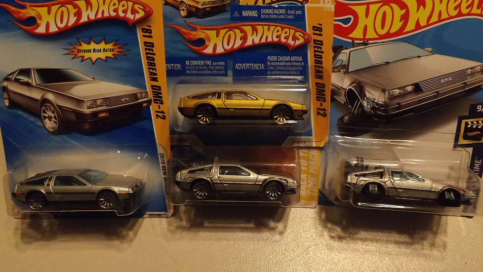 Hot Wheels Delorean Mixed Lot Of 4 Back To The Future