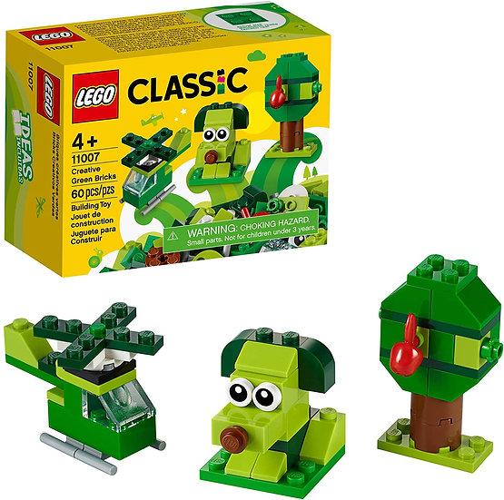 LEGO CLASSIC CREATIVE GREEN BRICKS 11007 STARTER SET 60 PIECES