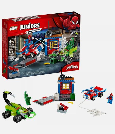 LEGO Juniors Spider-Man Vs. Scorpion 10754 Marvel 125 Piece Building Set Toy