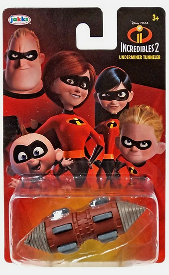 Lot of 2 Jakks Incredibles 2 Underminer Tunneler and Incredibile