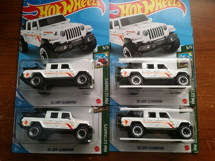 Hot Wheels 2020 Jeep Gladiator 2021 Dollar General Exclusive Set of 4