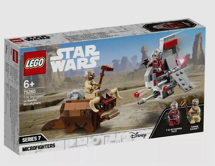 Lego Star Wars T-16 Skyhopper vs Bantha Microfighters (75265)