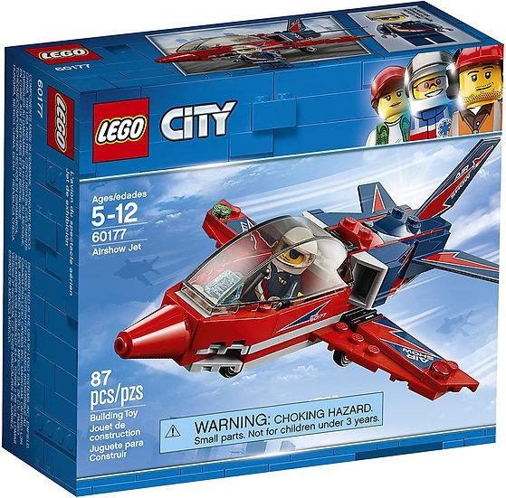 Lego City 60177 Airshow Jet Complete Set w/ Minifigure