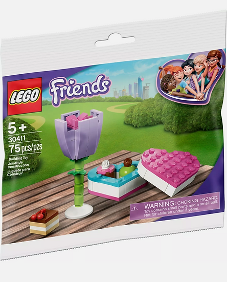 Lego 30411 Friends Chocolate Box & Flower Sealed Polybag 75 Pieces